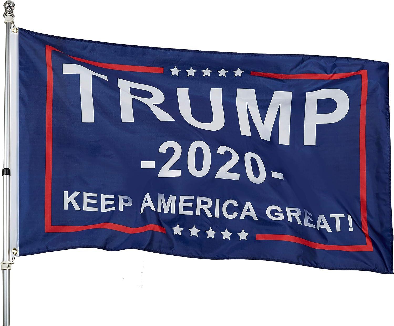 Homissor Donald Trump 2020 MAGA Flags 3x5 Outdoor- Keep America Great Flag Banner Indoor