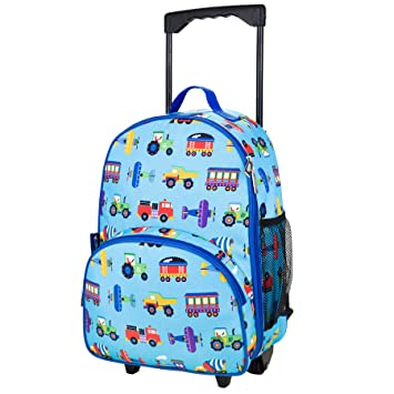 Amazon.com: Olive Kids Trains, Planes and Trucks Rolling Luggage ...