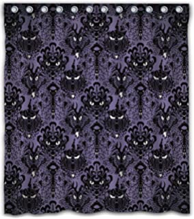 Maodam Custom Haunted Mansion Waterproof Fabric Shower Curtain With 12 Hooks 66w
