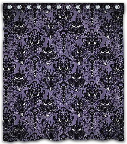 Maodam Custom Haunted Mansion Waterproof Fabric Shower Curtain With 12 Hooks 66quotw