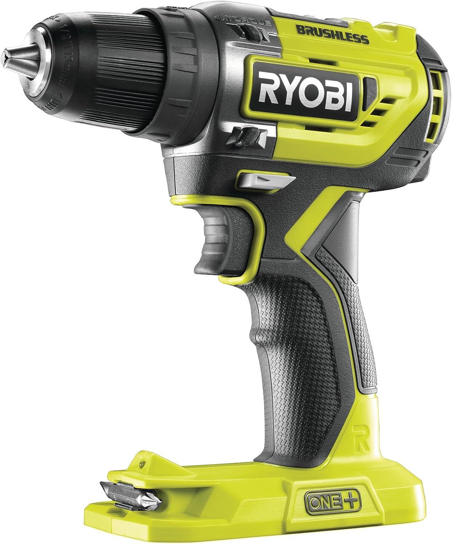 Ryobi R18DD5-0 Taladro Atornillador One+ Sin Escobillas De 18V, 0 W, 18 V, Verde, Estàndar