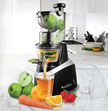 TurboTronic Juice Bar exprimidor lento para todo tipo de frutas 85 RPM, sin BPA,