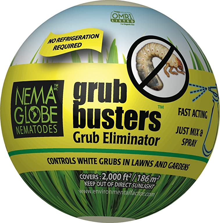"10 Million Beneficial Nematodes (H.bacteriophora) - Nema Globe Grub Buster for Pest Control - New ""No Refrigeration Required"" Formula"