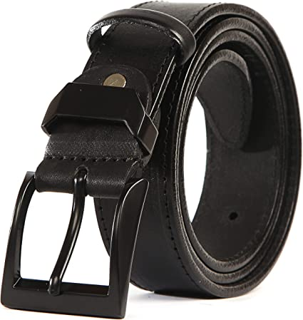 CU2 Mens Real Genuine Leather Belt Black Brown White 1.5 Wide S-XL Casual Jeans