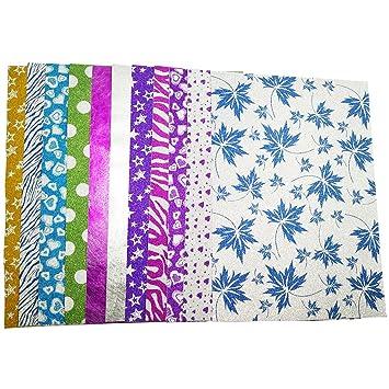 10 Hojas A4 Cartulinas Adhesivas de Colores Brillantes Cartulinas de ...