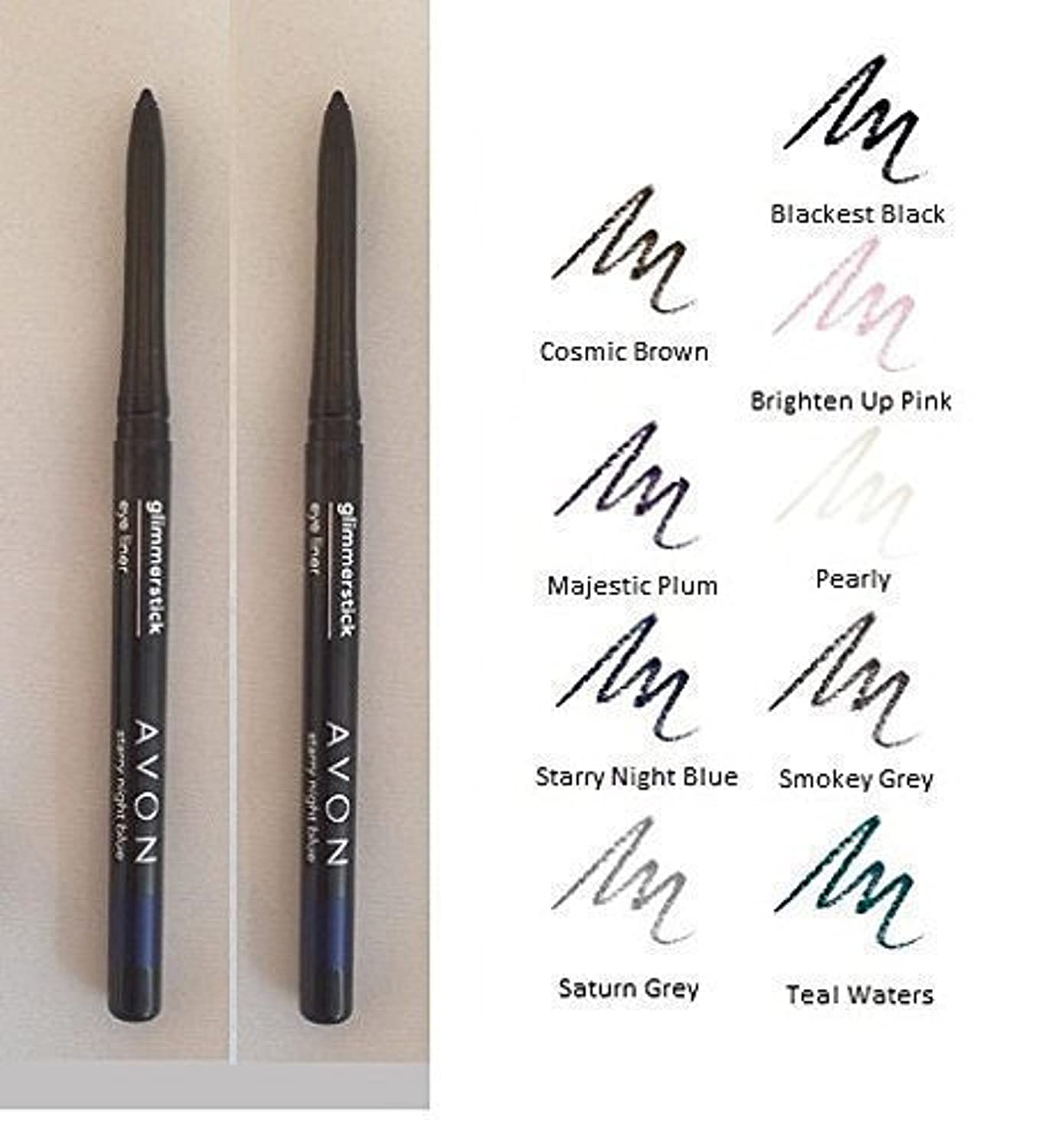 2 X Avon Glimmerstick Eyeliner - Twin pack - Two the same (Blackest Black)
