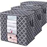 WISELIFE Storage Bags 100L 3-Pack Large Blanket Clothes Organization and Storage Containers for Comforters,Bedding, Foldable