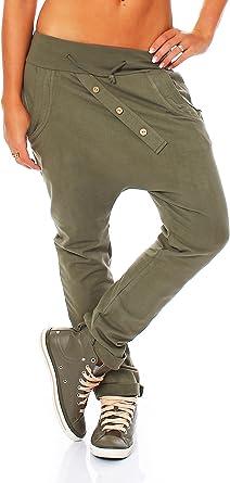 zarmexx Trendy – Pantalones deportivos para mujer Baggy Boyfriend ...