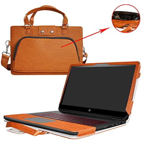 Inspiron 17 i5767 i5765 Case,2 in 1 Accurately Designed Protective PU Leather Cover + Portable Carrying Bag for 17.3