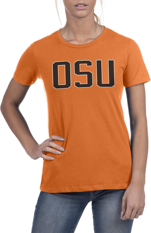 Top of the World NCAA Womens Trim Modern Fit Premium Cotton Boyfriend Team Color Tee