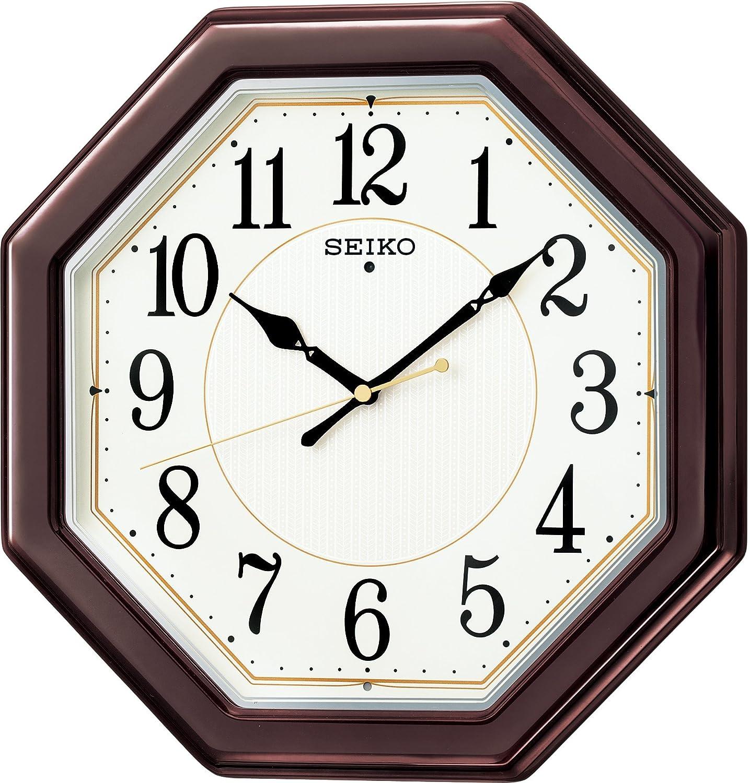 SEIKO CLOCK(セイコークロック) 木枠スタンダード電波アナログ掛時計(丸濃茶) KX385B B00JSM1244 丸型
