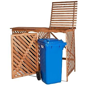 TecTake Caja para 2 contenedores de basura, caseta para contenedores de basura contendor: Amazon.es: Hogar