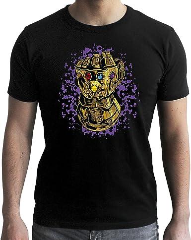 ABYstyle Marvel – Camiseta de Los Vengadores Infinity Wars guante de infinito Thanos: Amazon.es: Ropa y accesorios