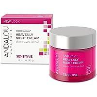 Andalou Naturals 1000 Roses Sensitive Heavenly Night Cream, 50 g, White, 1.7 Ounce