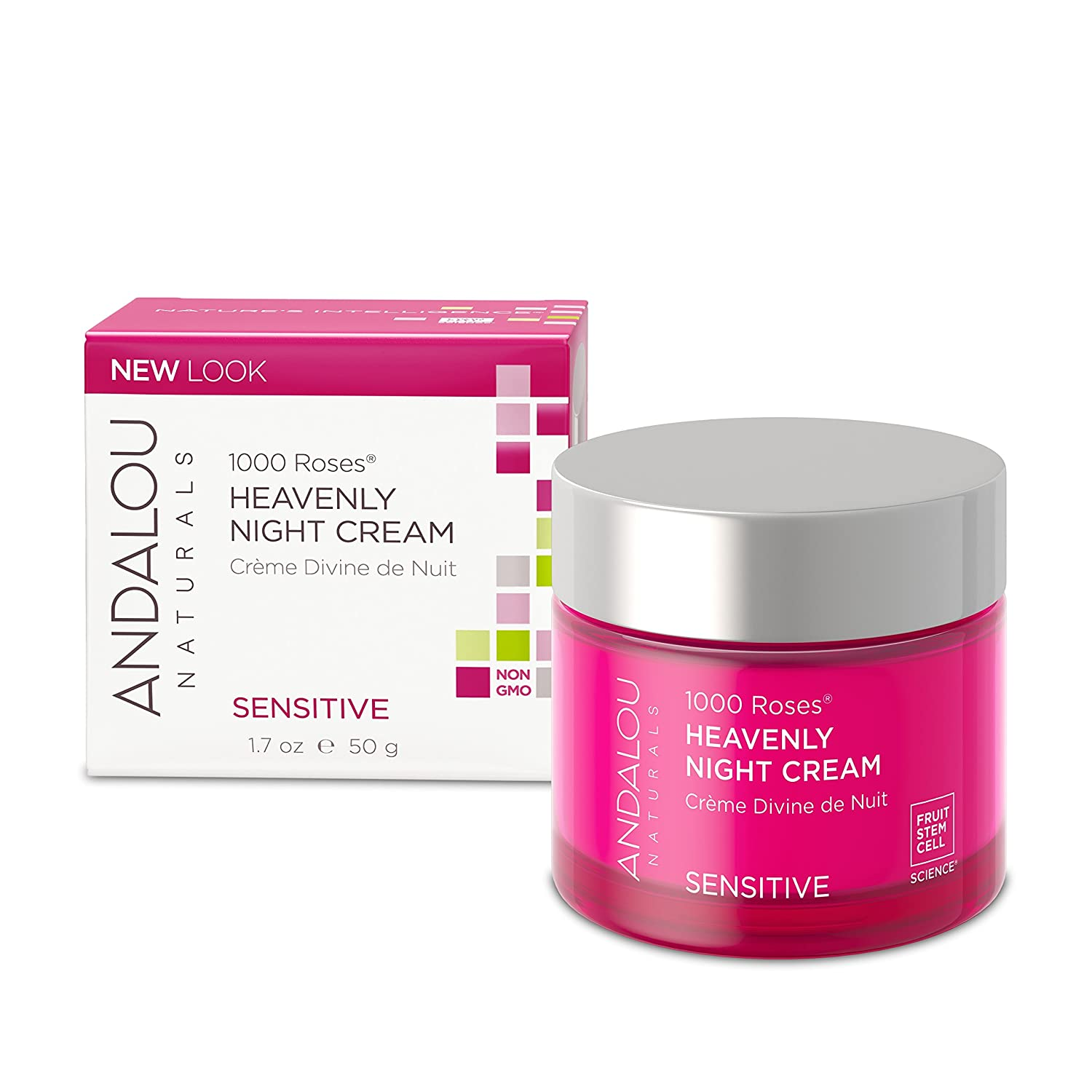 Andalou Naturals Resveratrol Q10 Night Repair Cream, 1.7 oz, For Dry Skin, Fine Lines & Wrinkles, For Softer, Smoother, Younger Looking Skin Aroma Naturals 43753