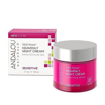 1000 Roses Heavenly Night Cream - 1.7 oz. by Andalou Naturals (pack of 6) Bulldog Sensitive Moisturiser100Ml (1x3.3Oz )