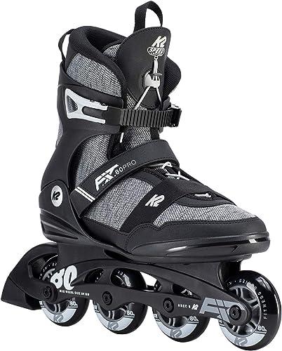 K2 Mens F.I.T. 80 Pro Inline Skates, 5, Gray