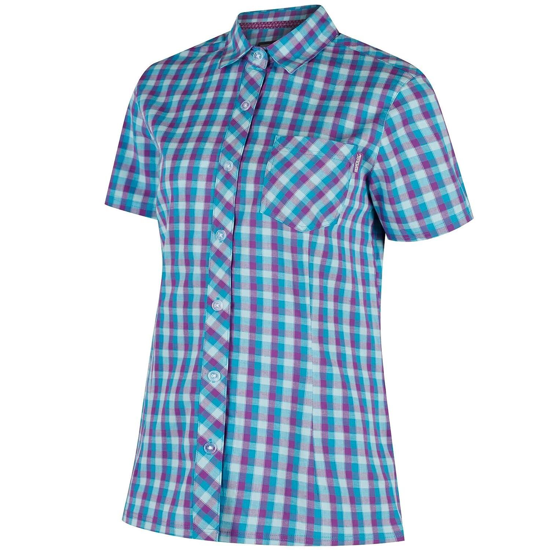 Regatta Womens//Ladies Honshu II Short Sleeve Button Down Casual Shirt