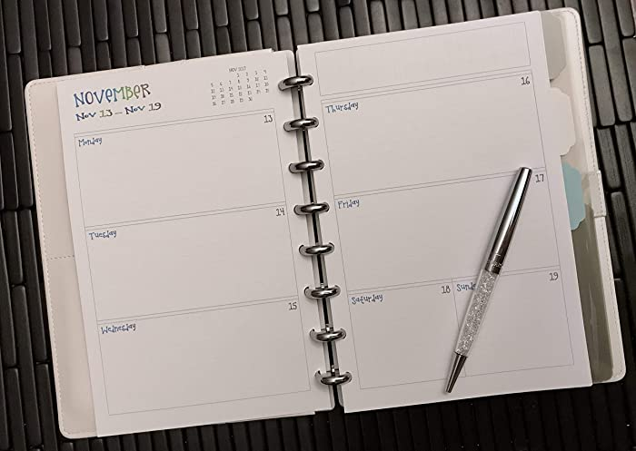 photo about Discbound Planner Printables named : 2018 2019 2020 Day by day Calendar for Discbound