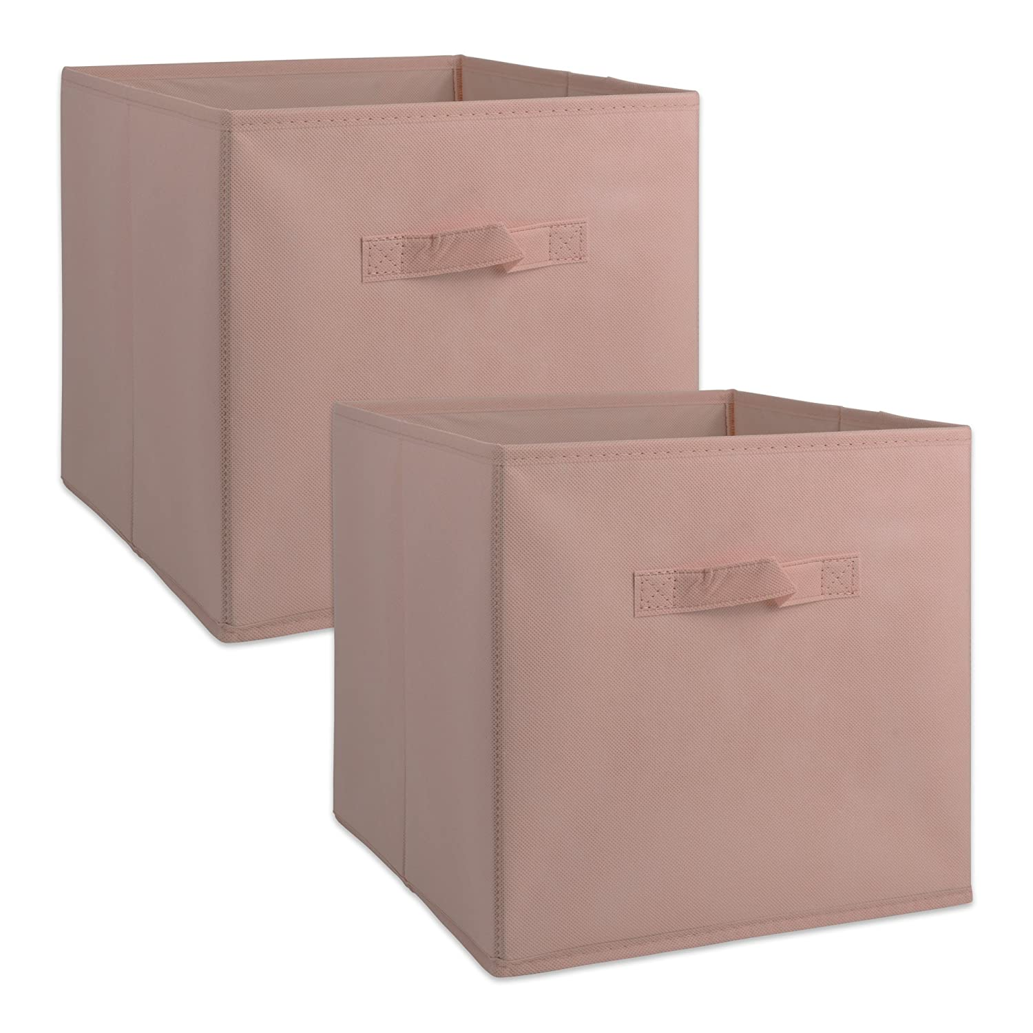 """DII Fabric Storage Bins for Nursery, Offices, & Home Organization, Containers Are Made To Fit Standard Cube Organizers(13x13x13"""") Pink - Set of 2"""