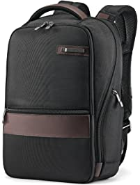 Samsonite Kombi 14-inch Small Backpack, Black/Brown, International Carry-On (Model:92313-1051)