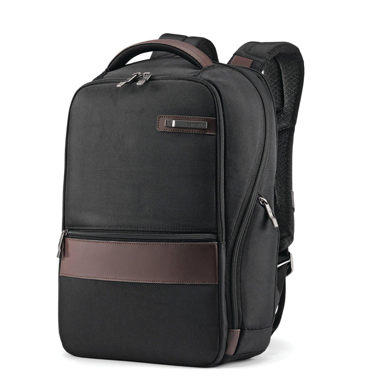 Samsonite Kombi 14-inch Small Backpack, Black/Brown, International Carry-On (Model:92313-1051) Samsonite Corporation - CA