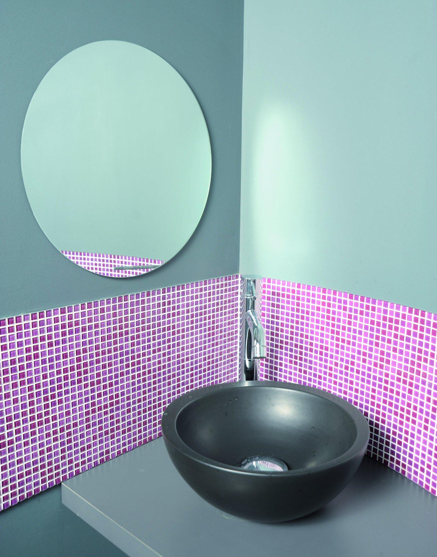 EVIDECO 851599 Self-Adhesive Round Mirror Diameter 15.7-Inch