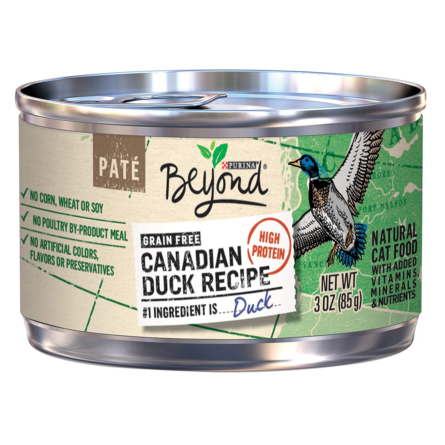 Purina Beyond Natural Grain Free Canadian Duck Recipe Adult Wet Cat Food - (12) 3 oz. Cans