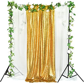 8ft*8ft Sequin Backdrop Wedding Party Birthday Curtain Background Photo Decor