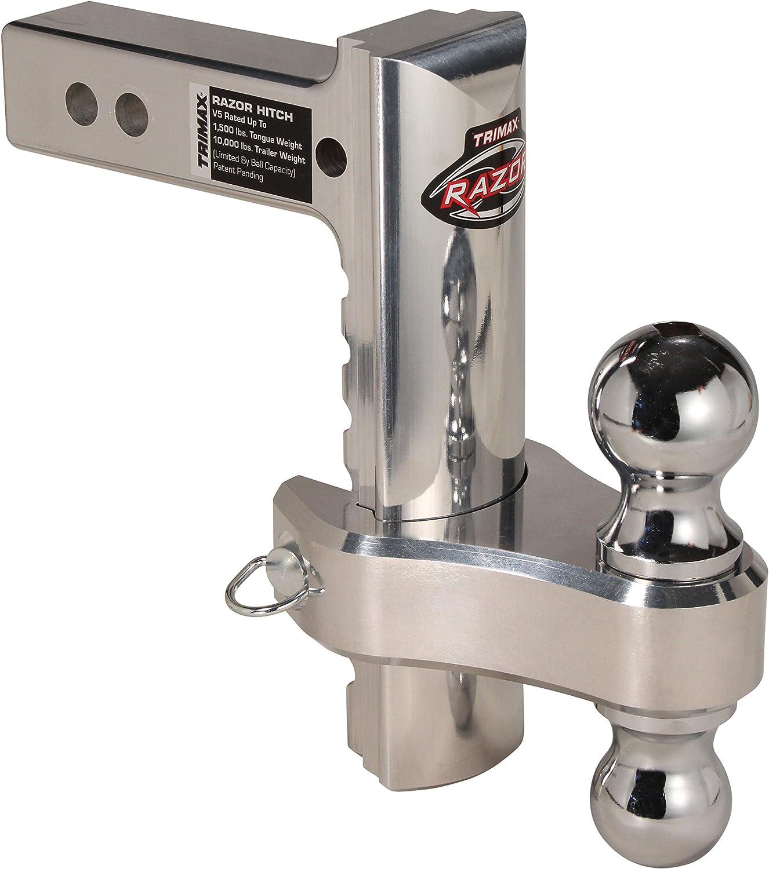 Trimax TRZ12AL Razor Aluminum Adjust Hitch-Dual Ball
