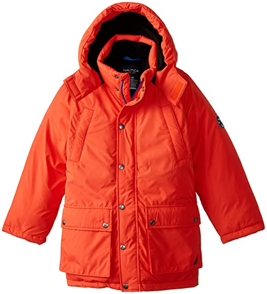 Nautica Big Boys' Solid Heavyweight Snorkel Coat, Tabasco, Large