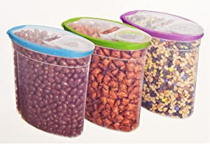Rubbermaid Cereal Keeper 1.5gal (3 Pk., Assorted Colors)