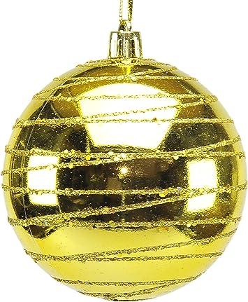 Pack de 4 bolas de Navidad doradas 8 cm: Amazon.es: Bricolaje y ...