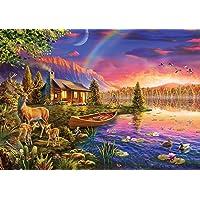 Ks Games Puzzle 500 Parça Lakeside Cabin 20003
