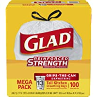 100-Count Glad Tall Kitchen Drawstring 13 Gallon Trash Bags