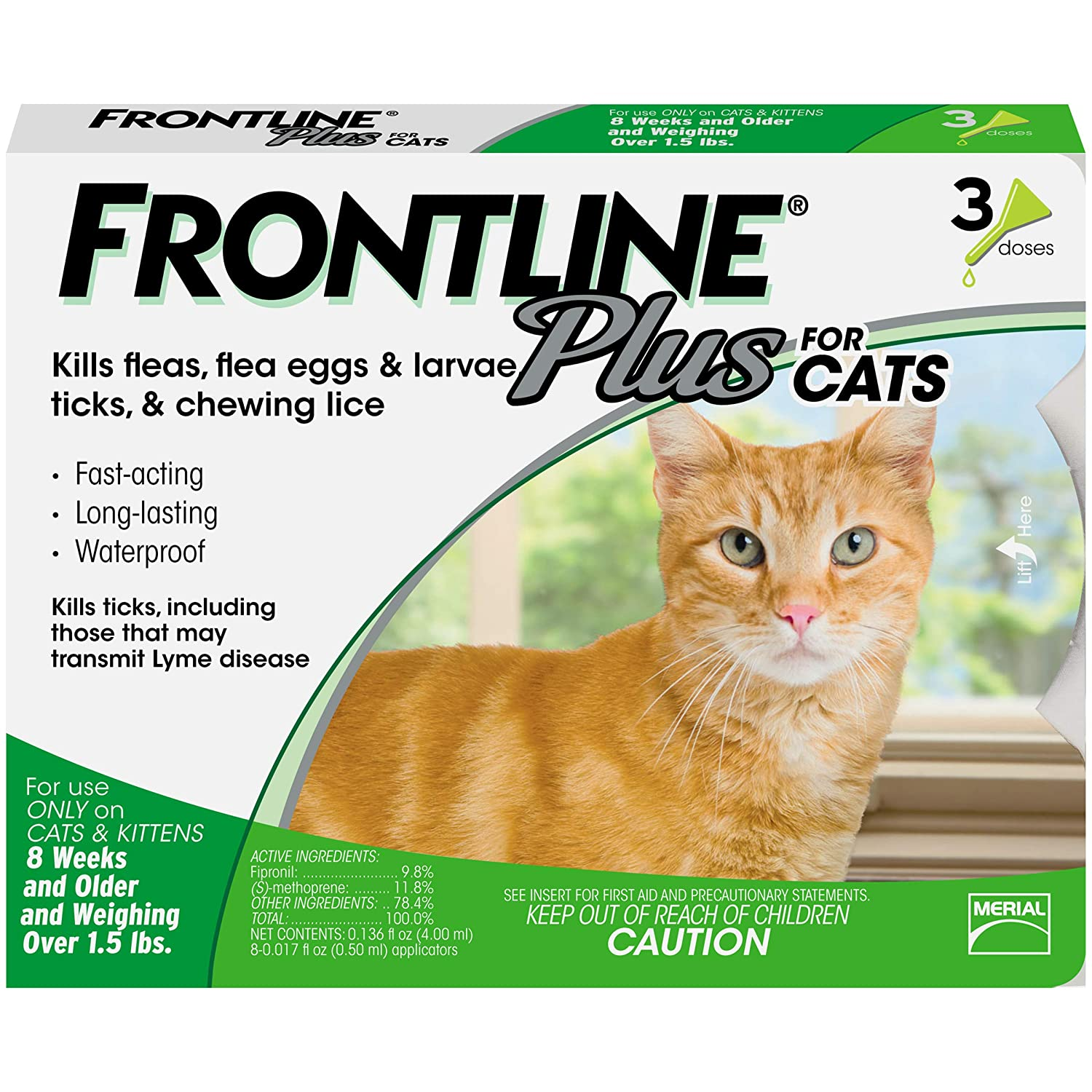 Amazon.com : Frontline Plus for Cats and Kittens (1.5 pounds and ...