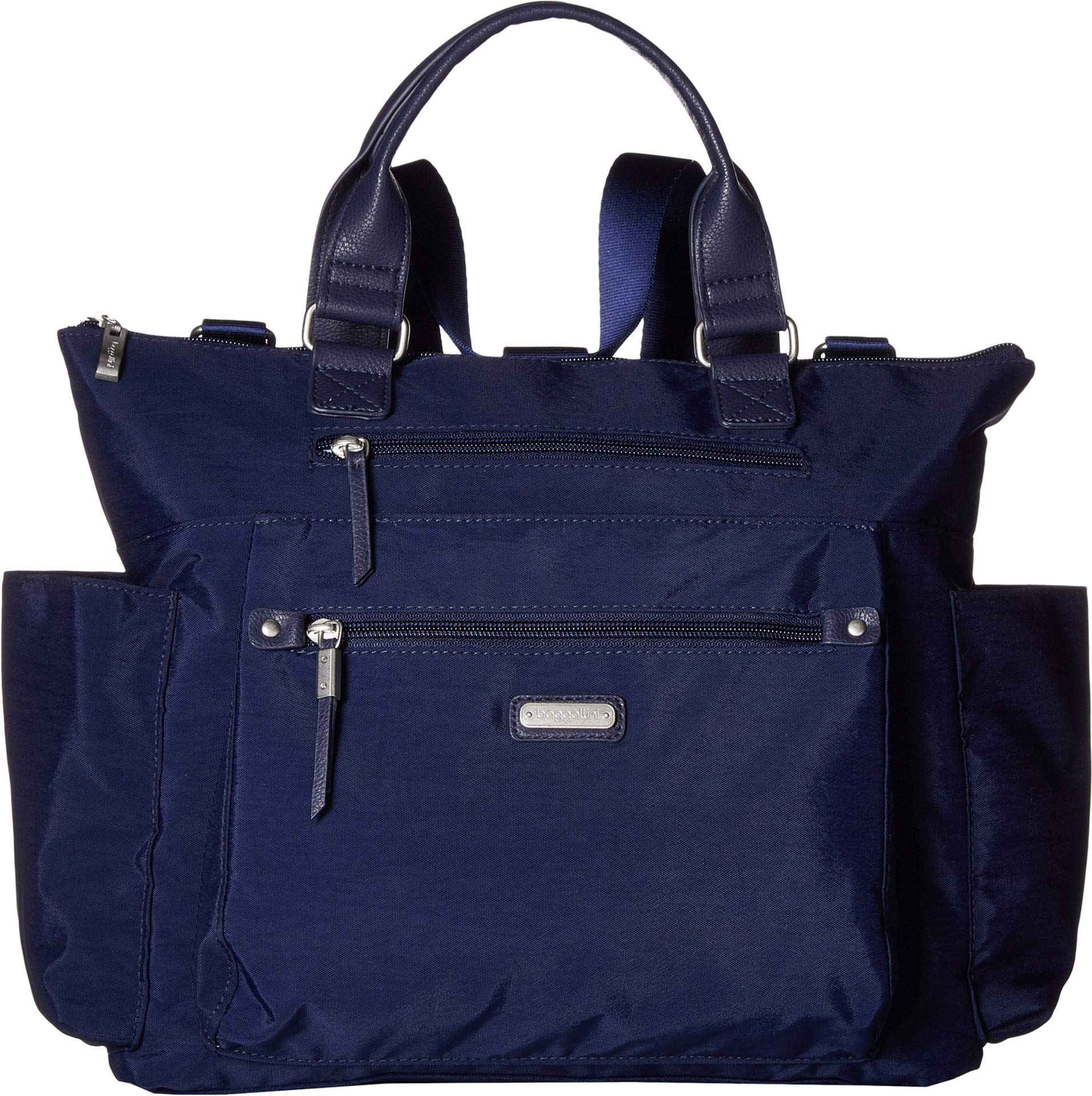 Baggallini 3-in-1 convertible backpack with RFID phone wristlet (Navy)