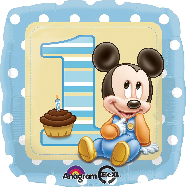 """Favoloso PALLONE """"1 ANNO"""" MICKEY MOUSE: Amazon.it: Giochi e giocattoli TA83"""