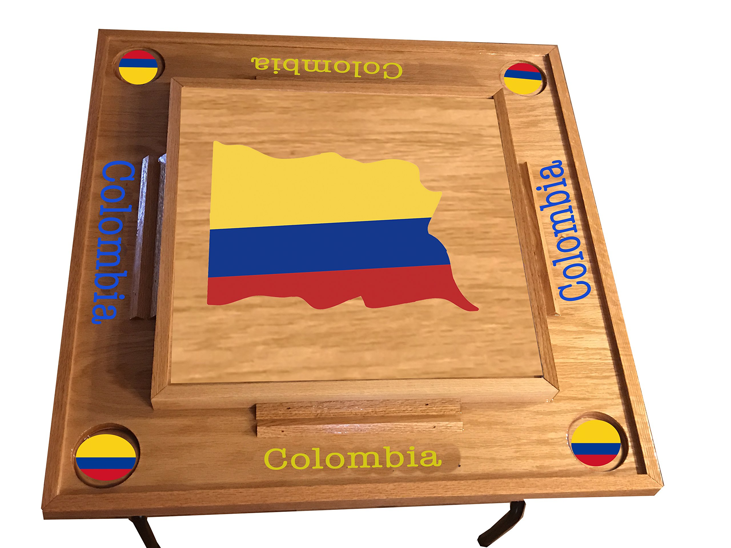 Colombia Flg Domino Table (Natural)