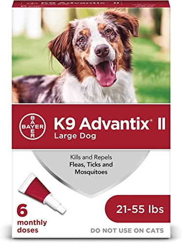 K9 Advantix II Flea, Tick & Mosquito Prevention for Large Dogs 21-55 Lbs