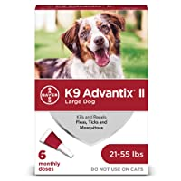 Bayer K9 Advantix II Flea, Tick and Mosquito Prevention for Large Dogs, 21 - 55...