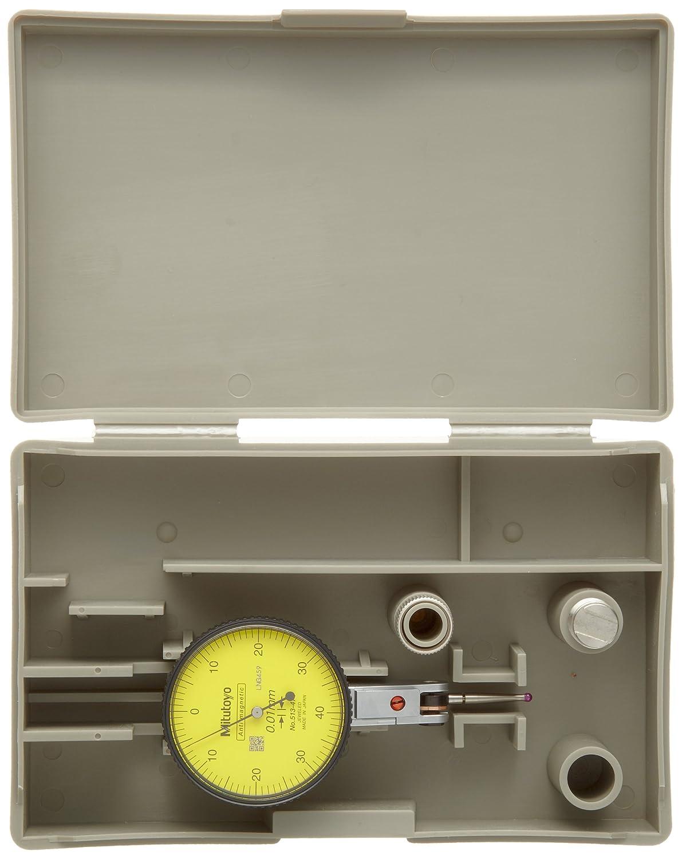 Basic Set Mitutoyo 513-474E Dial Test Indicator 8mm Stem Dia. 0-40-0 Reading 0.01mm Graduation 40mm Dial Dia. Horizontal Type Yellow Dial +//-0.008mm Accuracy 0-0.8mm Range