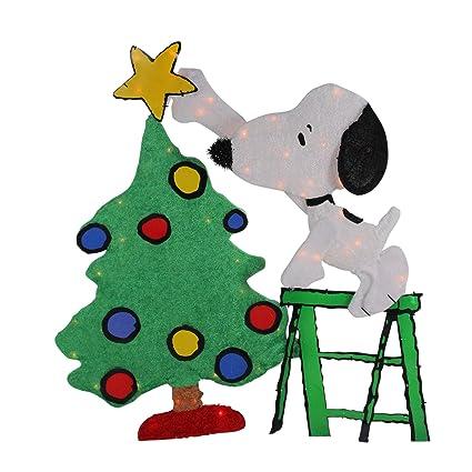 Christmas Decorating Clip Art.Amazon Com Peanuts 32 Pre Lit Snoopy Decorating Christmas