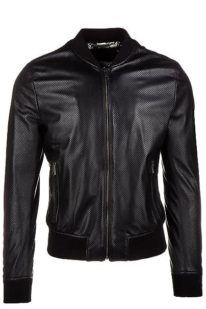 Dolce&Gabbana chaqueta cazadoras de hombre en piel nuevo bomber negro EU 50 (UK 40)