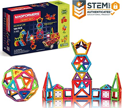 Carnival Building Toys Accessory Educational Kit Pack Magnetic Blocks 8 Piece