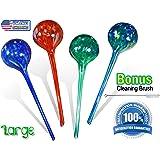 5Star Aqua Plant Watering Globes - Automatic Watering Ball Bulbs - Self Watering Plant Bulbs (4, Large)