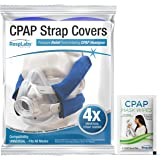 RespLabs CPAP Headgear Strap Covers - 4 Pack Universal - Compatible with AirFit F20, F10, P10, N20, DreamWear, Wisp, ResMed,