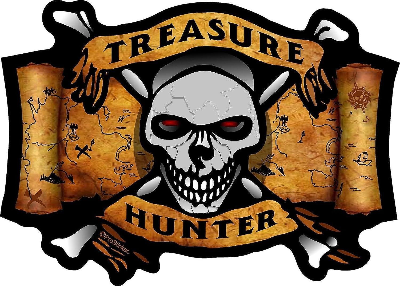 "ProSticker 518 (One) 4"" X 5.5"" Treasure Series Treasure Hunter Skull and Crossbones Decal Sticker"