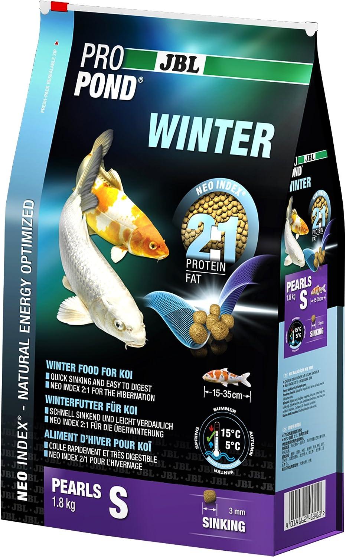 JBL Comida de Invierno para Koi, con Perlas sumergibles, Forro de Temporada, ProPond Invierno, Talla S, 1,8 kg
