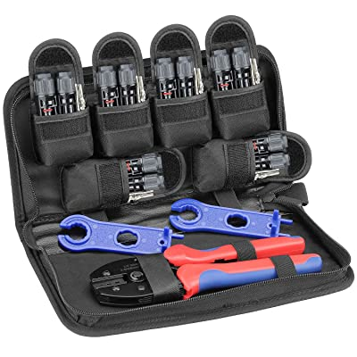 BougeRV Solar Connectors Crimper Tool Kit for 10/11/12/13 AWG Solar Panel Wire 6 Pairs Solar Panels Connector Male Female and 1 Pair Solar Connector Spanner Assembly Tools: Garden & Outdoor